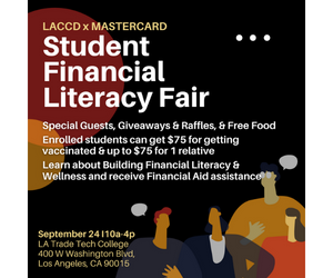 LACCD And Mastercard To Host Financial Literacy Event